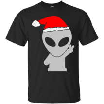 Alien Wearing Santa Hat T-Shirt - $19.99+