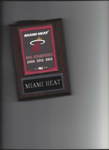 Miami Heat Banner Plaque Nba Champions Champs Basketball Nba - $3.95
