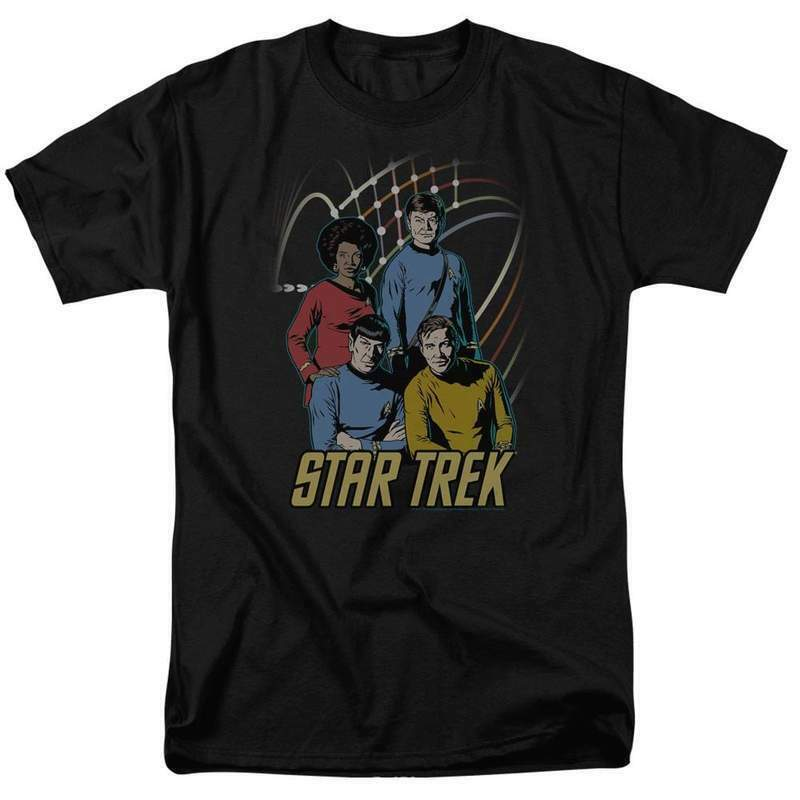Star Trek Animated T-shirt Retro Original Crew cast Sci-Fi graphic tee CBS398