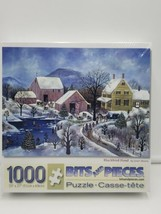 Bits and Pieces- 1000 Piece Puzzle - Blackbird Pond by Artist Janet Munro SEALED - $24.74
