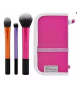 Real Techniques Essential Makeup Brush Set With Drying Stand & Cleansing... - $14.86