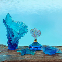 Daum Set 4 Vase, Starfish, Turtle, Perfume Bottle, France Crystal New In Box Sea - $2,652.60