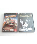 Lot FlatOut & Goldeneye (Sony PlayStation 2, 2005) PS2 Complete Tested W... - $9.99