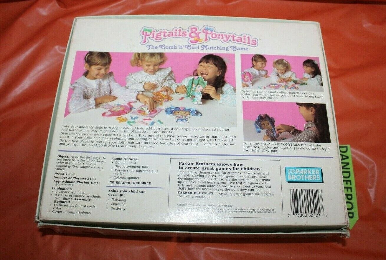 Parker Brothers Pigtails And Ponytails Comb and Curl Vintage Board Game 1989 image 5