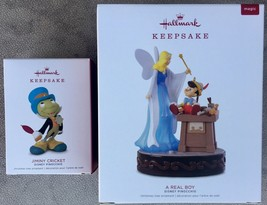 2018 Hallmark Limited Edition Disney Jiminy Cricket and A Real Boy Pinoc... - $59.95