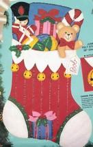 Jumbo Bucilla Chock Full of Toys Bear Soldier Christmas Felt Stocking Ki... - $82.95