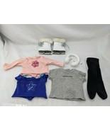 American Girl Doll Shirts Tights Ice Skates Earmuffs Lot - $34.95