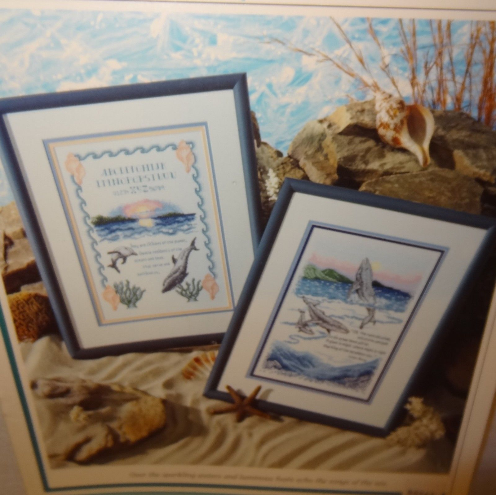 Songs of the Sea Cross Stitch Leaflet Book Color Charts 1992 Whales Dolphins - $10.99