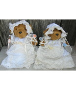 Baby Shower Party Favors Teddy Bears w Lace Gowns + Resin Bear - $12.99