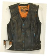 Milwaukee Leather ML1293 Womens Riding Vest Black Embroidered Wings X Small - £69.77 GBP