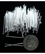 Argento Placcate Gioielli Spilli con Testa 500 1.9cm 20 Ga fhs010 - $6.74