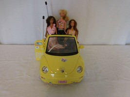 Barbie Yellow VW Volkswagen Beetle Convertible Remote Control Car Toy + ... - $72.29