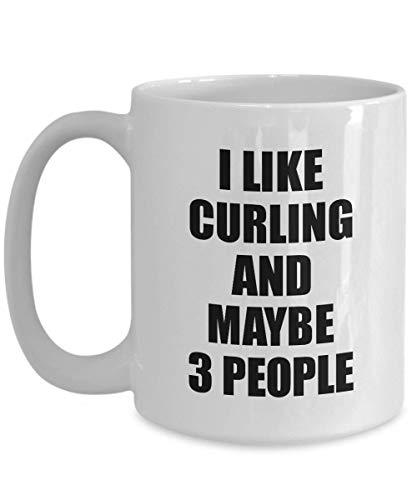 Primary image for Curling Mug Lover I Like Funny Gift Idea for Hobby Addict Novelty Pun Coffee Tea