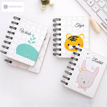 1PCS Cute Cartoon Animal Rollover Coil Daily Weekly Planner Portable Min... - $7.35