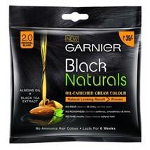 2 Pack X Garnier Black Naturals Oil Enriched Cream Hair Colour No ammonia - $6.79