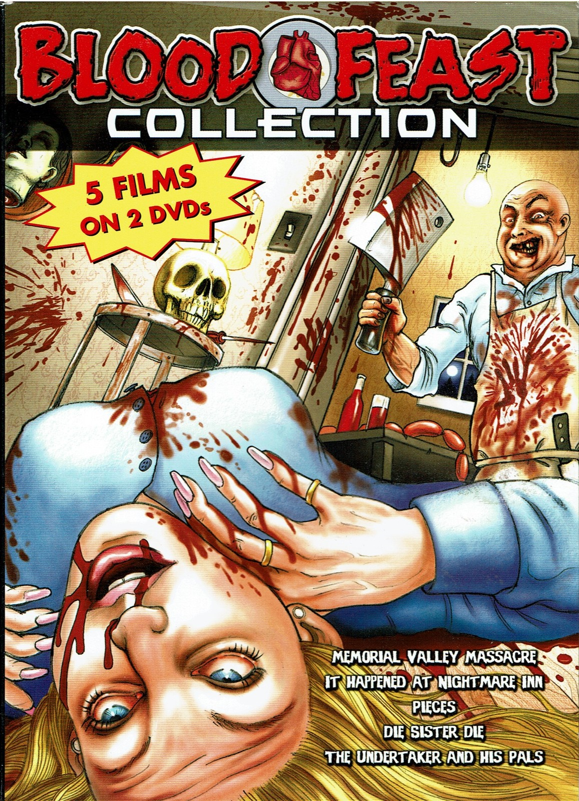 Blood Feast Collection, 5 Classic Horror Films on 2 DVD set (Region 0 Worldwide)