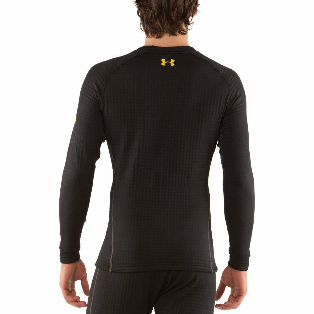 Under Armour Men's UA Base 4.0 Crew, Small, Black 1239730