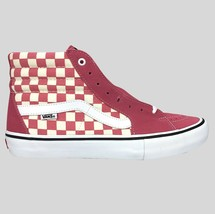 Vans Sk8-Hi Pro Canvas Skate Shoe Size 10.5 Men's Checkboard Suede Canvas - £36.94 GBP