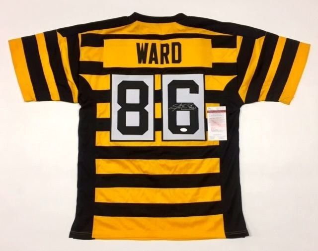 9c1862ab13a S l1600. S l1600. Previous. HINES WARD AUTOGRAPHED STEELERS BUMBLEBEE JERSEY  w/JSA WITNESSED COA ...