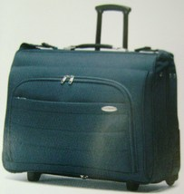 "SAMSONITE ""PERIMETER"" WHEELED GARMENT BAG BLUE SOLID 23"" L x 22"" W x 8"" ... - $294.56"