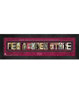 Personalized New Mexico State University Campus Letter Art Framed Print - $39.95