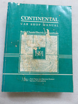1991 Lincoln Continental Service Repair Manual OEM Factory Dealership Wo... - $2.52