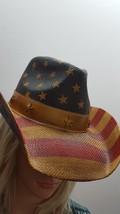 Toyo Vintage American Flag Star Studded Straw USA Cowboy Hat NWT FREE Sh... - $28.04