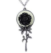 Luna Full Moon Black Rose Pendant Vampire Alchemy Gothic P849 - $39.95