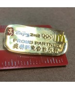 Beijing 2008 Olympics Mcdonalds Proud Partner Lapel Hat Pinback CD - $6.19