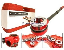5 Dies Handheld Pipe Threader Ratchet Type 62 + Pipe Cutter No. 2 - $42.56