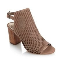 "Vince Camuto ""Madesti"" Perforated Leather Sandal TAUPLICIOUS  SIZE 8.5 M - $54.44"