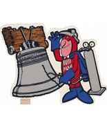 Budweiser Bud-man Philadelphia Liberty Bell Decal Authentic Ad 1976 6 x 6 - $11.27