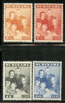 1943 Princess Margriet Set of 4 Suriname Stamps Catalog Number 176-79 MNH