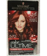 Schwarzkopf Color Ultime 5.72 AUBURN Flaming Reds Red Permanent Hair Col... - $17.81