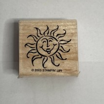 Stampin' Up! Sun With Face Rubber Stamp 2003 Wood Mount #J129 - $4.99