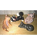 4 Cat Figurines Lot Kathy Wise Creations by Carole Quintessence England ... - $8.06