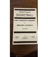2003-04 BOSTON CELTICS @ LOS ANGELES LAKERS RETRO 4 PAGE PROGRAM KOBE BR... - $34.99