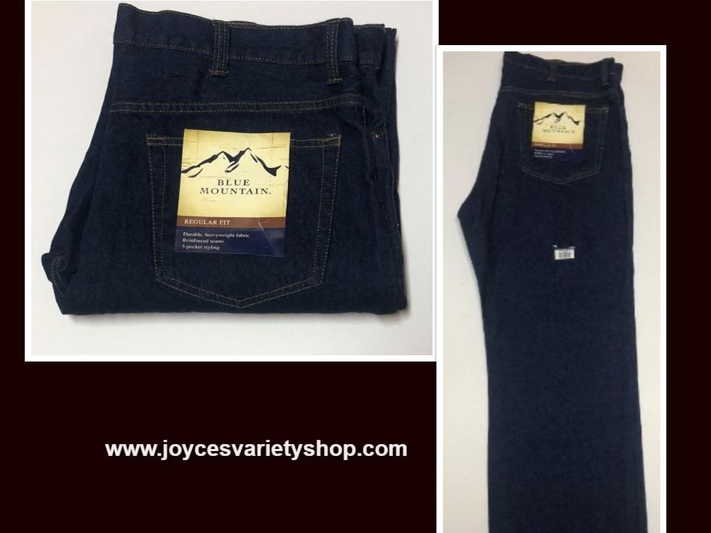 Blue Mountain Jeans Regular Fit 5 Pocket Heavyweight Sz 40 x 34