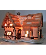 SANTA'S BEST Thatched Roof House Christmas Village - $15.50