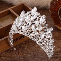 18 Design Crystal Crown Tiara Wedding Hair Accessories Bride Statement B... - £33.73 GBP
