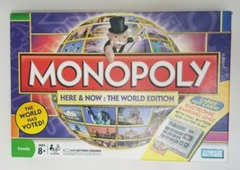 Monopoly Here and Now The World Edition Board Game 2008 Parker Brothers - $37.40