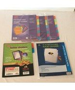 Staples Paper Dividers 8 Tab Writable Colored 5 Tab Write On and Better ... - $14.99