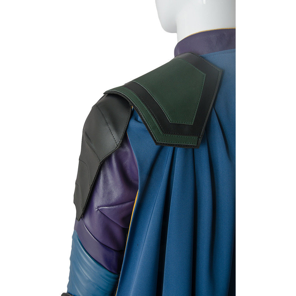 The Avengers Thor 3 Ragnarok Loki Tom Sakaar Suit Cape Cosplay Costume Outfit image 9
