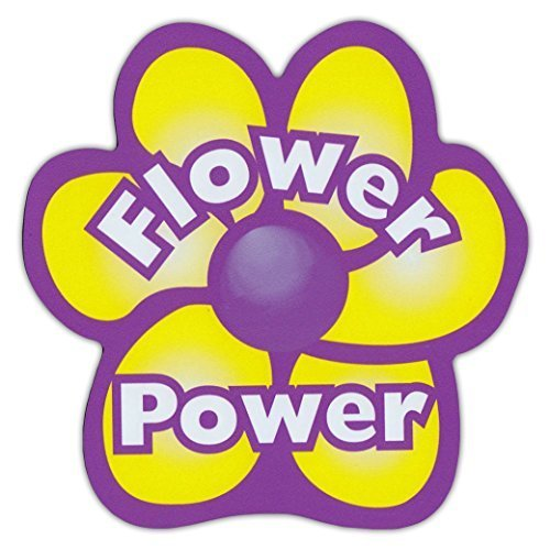 refrigerator magnet flower power hippy peace 5 5 x 5 5 other gift party supplies. Black Bedroom Furniture Sets. Home Design Ideas
