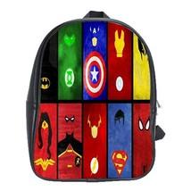 Backpack School Bag Marvel Super Heroes Logo Symbol Character Anime Gami... - $33.00