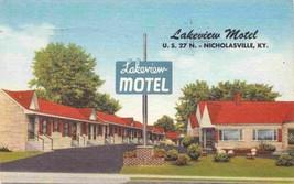 Lakeview Motel US 27 N Nicholasville Kentucky 1956 linen postcard - $6.44