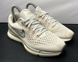 Nike Air Zoom Running Gym Pegasus 34 Shoes Pale Grey Pink 880560 Womens Size 6 - $53.90
