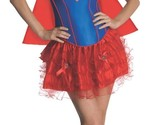 Secret Wishes Women's Supergirl Red Blue Corset Tutu Costume, S, M, L