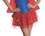 Secret Wishes Women's Supergirl Red Blue Corset Tutu Costume, S, M, L