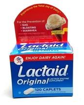 Lactaid Caplets Lactase Enzyme Lactose Intolerance Relief Caplets 120 12... - $10.79